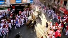 Trois hommes ont été encornés lors du premier lâcher de taureaux des fêtes de Pampelune
