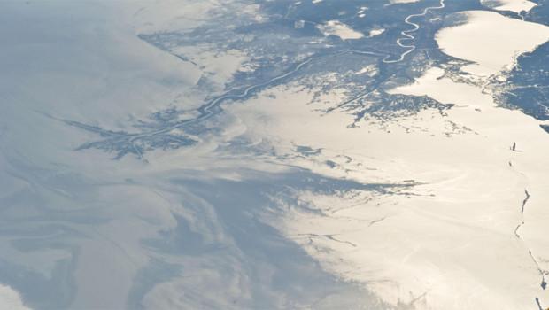 Vue par satellite de la marée noire dans le golfe du Mexique (15 mai 2010)