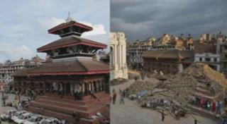 Destructions au coeur de Katmandou : les images avant et après