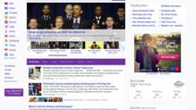 La nouvelle home page de Yahoo !