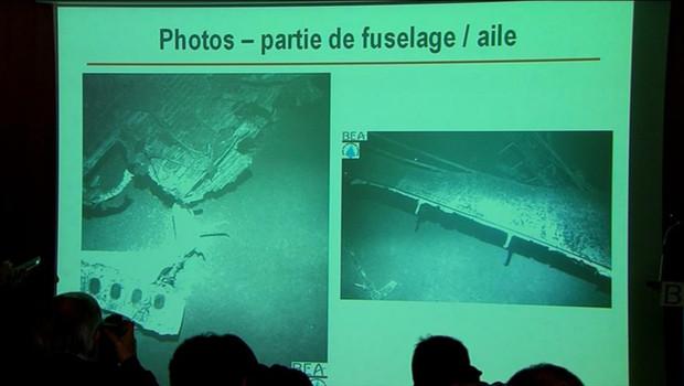 Les premières images de l'épave du Rio-Paris, écrasé en juin 2009, et retrouvé en avril 2011 au fond de la mer, présentées par le BEA