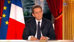 Nicolas Sarkozy à la télévision le 30 janvier 2012 présidentielle