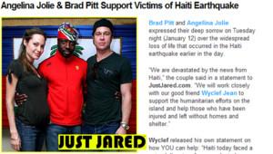 Brad Pitt Angelina Jolie Wyclef Jean