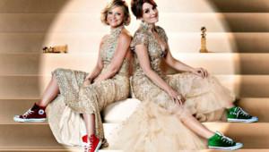 Amy Poehler et Tina Fey, présentratrices de la 70ème cérémonie des Golden Globes.
