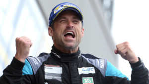 Patrick Dempsey, le Dr Mamour de Grey's Anatomy, deuxième des 24H du Mans dans la catégorie amateurs, le 14 juin 2015.