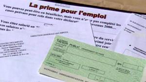 TF1/LCI : Prime pour l'emploi et chèque au Trésor public