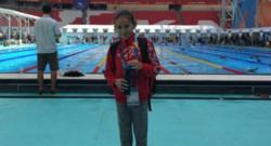 Alzain Tareq,, la Bahreïnienne de 10 ans, plus jeune participante aux championnats du monde de natation