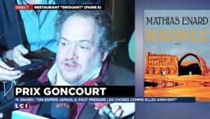 """Goncourt : Mathias Enard fière de donner un """"côté érotique au partage du savoir"""""""