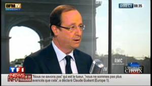 """Hollande pour """"l'union de tous les Français face à l'agression"""""""