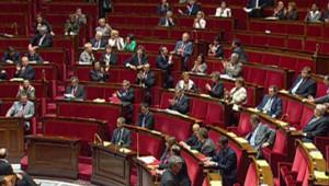 L'hémicycle de l'Assemblée nationale, le jour du vote solennel de la loi Hadopi (12 mai 2009)