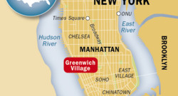 Le quartier de Greenwich à New-York