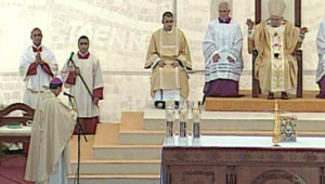 Messe à Amman pour Benoît XVI (10 mai 2009)
