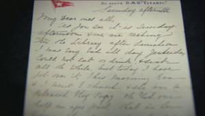Une lettre écrite le jour du naufrage du Titanic vendue 144.000 euros