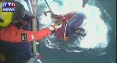Les images d'un sauvetage spectaculaire au large des côtes écossaises