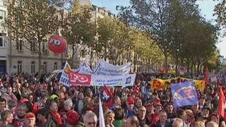 Manifestation de fonctionnaires à Paris (23 octobre 2008)