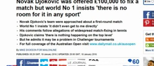 Matchs de tennis truqués : les joueurs réagissent sur la toile