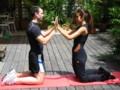 Exercices de gym - bras pectoraux