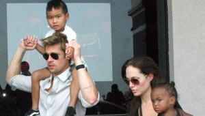 Brad Pitt Angelina Jolie Maddox Zahara