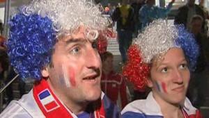 La tristesse des supporteurs des Bleus après le match contre les Pays-Bas le 14 juin 2008