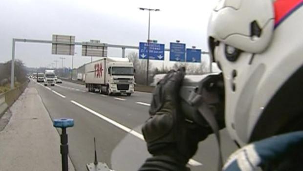 radar policier autoroute poids lourds routiers