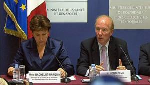 Roselyne Bachelot et Brice Hortefeux.