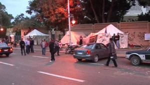 Egypte : des opposants au président Morsi campent devant le palais présidentiel, 5/12/12