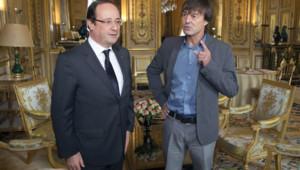 François Hollande et Nicolas Hulot, le 12 juin 2012 à l'Elysée.