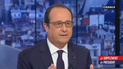 françois hollande Le supplément Canal Plus interview