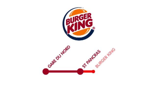 La pub Eurostar pour Burger King