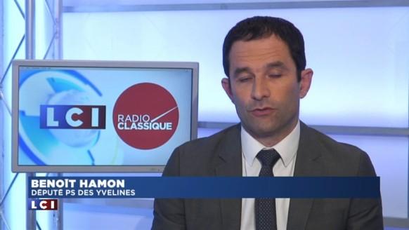 """Primaires à gauche : """"Que si François Hollande n'est pas candidat"""" pour Hamon"""