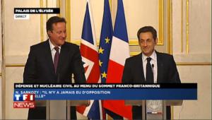 """Cameron souhaite """"bonne chance"""" à Sarkozy"""