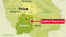 Carte de Corbeil-Essonnes, dans l&#039;Essonne