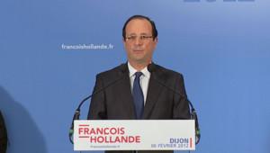 François Hollande à Dijon - 06/02/2012