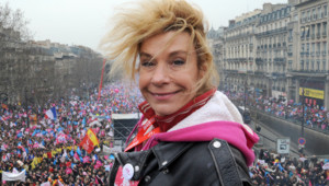 Frigide Barjot à La Manif pour tous le 24 mars