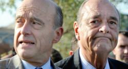 Jacques Chirac et Alain Juppé, dans les rues de Bordeaux le 20 novembre 2009.