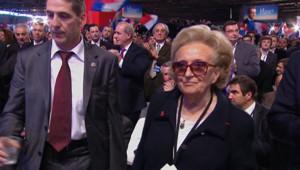 L'épouse de l'ancien président de la République, a pris la parole à Villepinte, le 11 mars 2012.