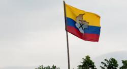 Le drapeau des Farc en Colombie