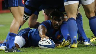 Rugby : Wesley Fofana lors de France-Angleterre du 22/8/14