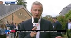"""Bruno Le Maire : """"Ce gouvernement c'est l'aveu du mensonge de François Hollande"""""""