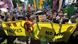 Manifestation anti-nucléaire au Japon le 5 mai 2012, jour de l'arrêt du dernier réacteur actif sur l'archipel
