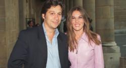 Laurent Gerra et Mathilde Seigner en juin 2000.