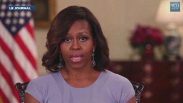 Michelle Obama lors de l'audition hebdomadaire de la Maison Blanche le 10 mai 2014