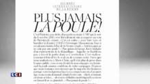 Journée de la femme : Jean-Vincent Placé pose avec une poule