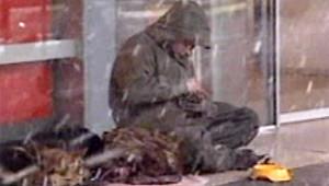 sdf pauvre pauvreté hiver mendicité (LCI)