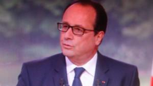 François Hollande au JT de 13h de TF1 le 14 juillet 2014