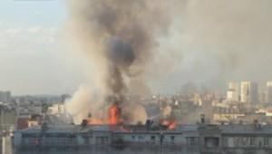 Incendie à Aubervilliers le 07/06/2014