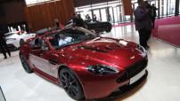 La Aston Martin V12 Vantage S Roadster présentée en avant-première au Mondial de l'Automobile de Paris 2014