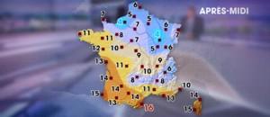 Les prévisions météo du vendredi 12 février 2016