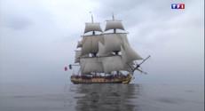 Le 20 heures du 16 avril 2015 : 235 ans après La Fayette, l'Hermione va de nouveau traverser l'Atlantique - 1883.408