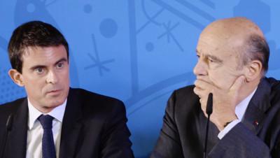 Manuel Valls et Alain Juppé à Bordeaux en janvier 2015.